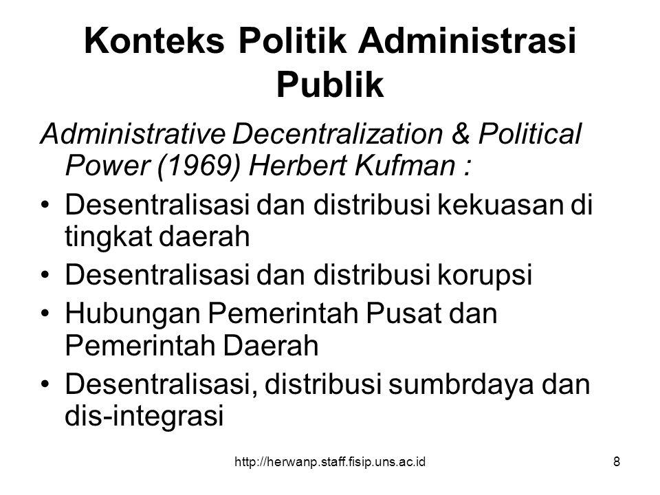 Konteks Politik Administrasi Publik