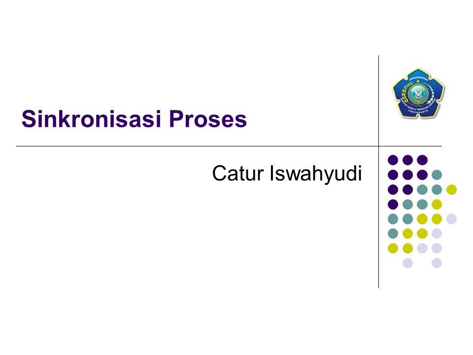 Sinkronisasi Proses Catur Iswahyudi