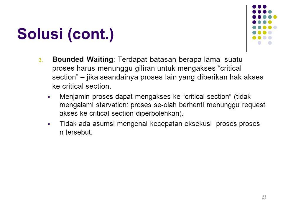 Solusi (cont.)