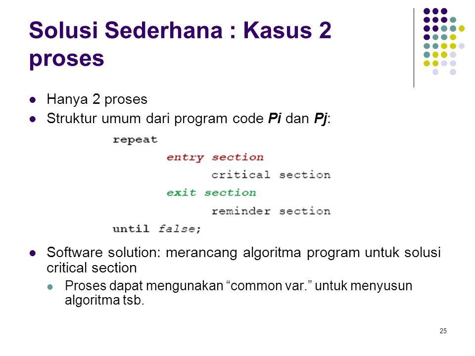 Solusi Sederhana : Kasus 2 proses