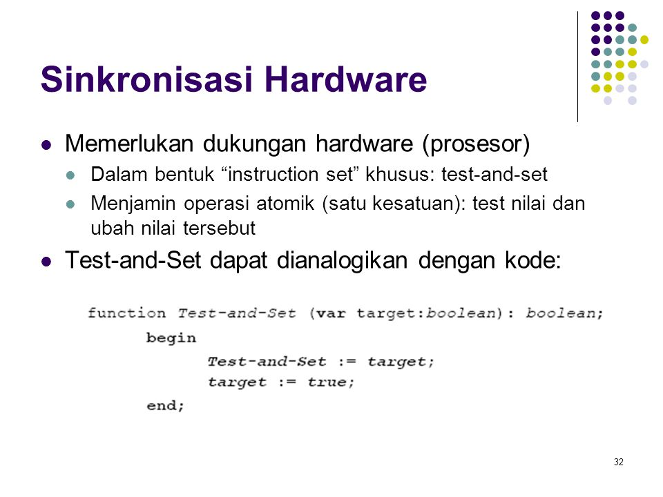 Sinkronisasi Hardware