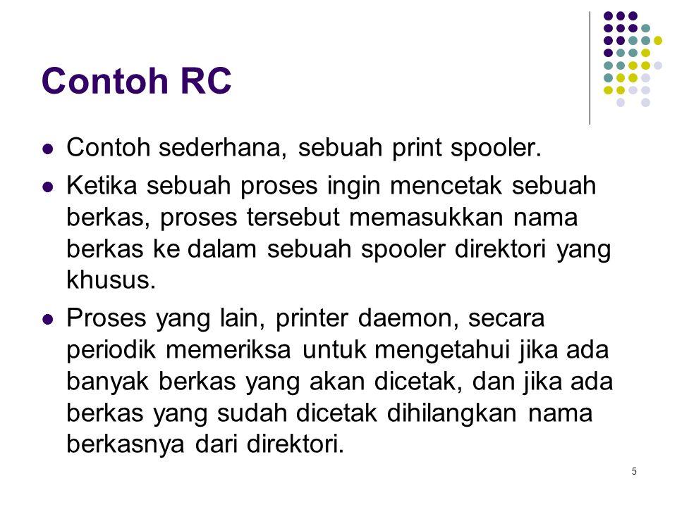 Contoh RC Contoh sederhana, sebuah print spooler.