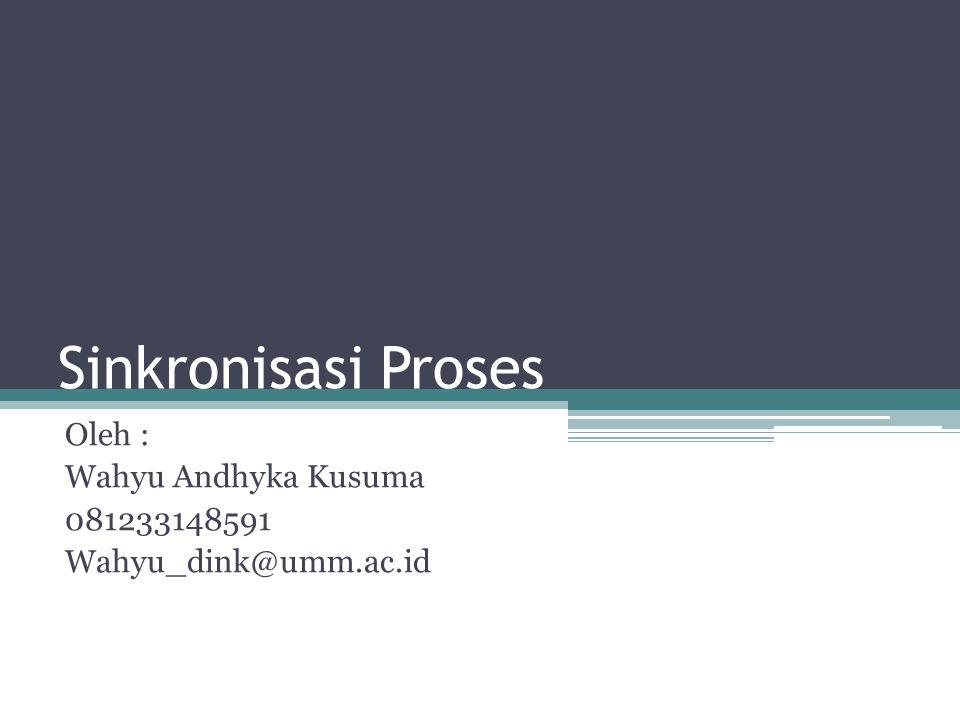 Oleh : Wahyu Andhyka Kusuma 081233148591 Wahyu_dink@umm.ac.id