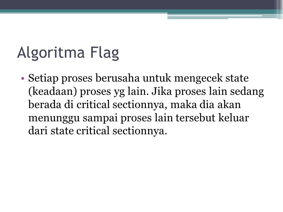 Algoritma Flag