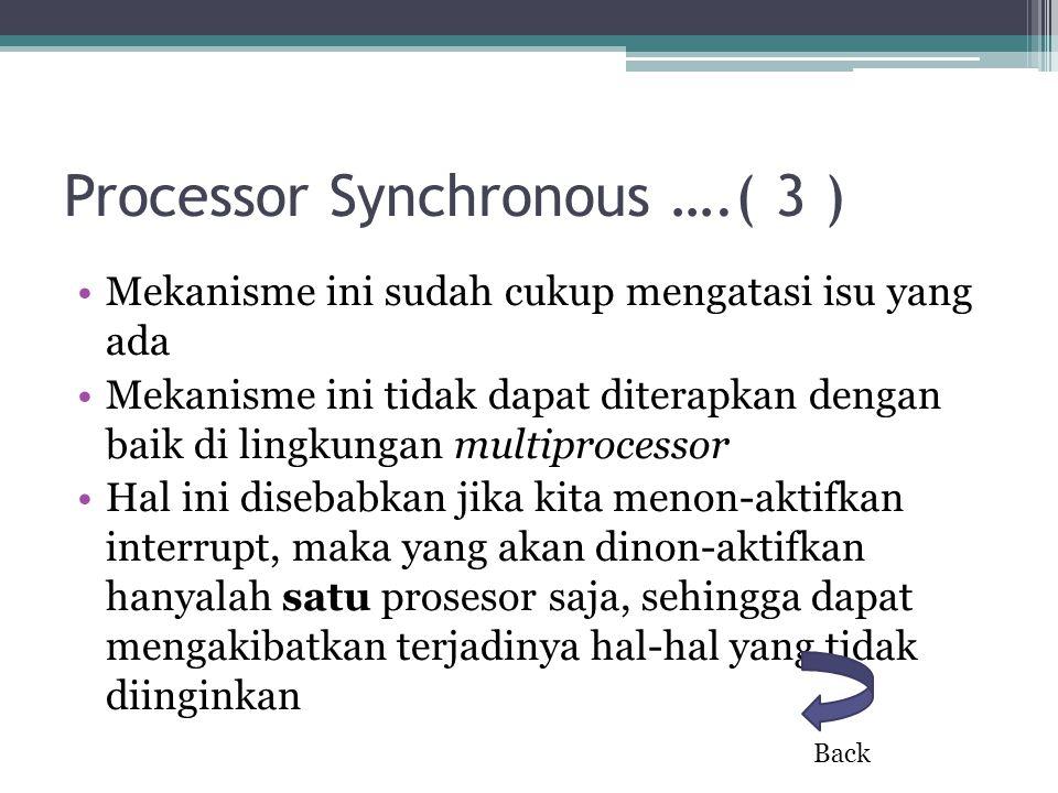 Processor Synchronous ….( 3 )