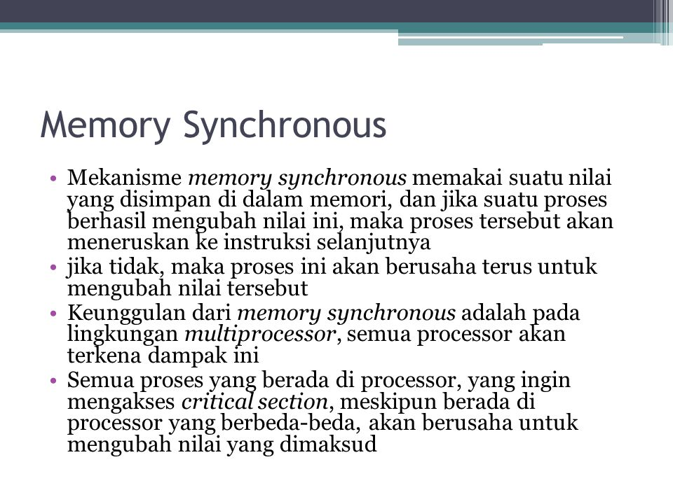Memory Synchronous