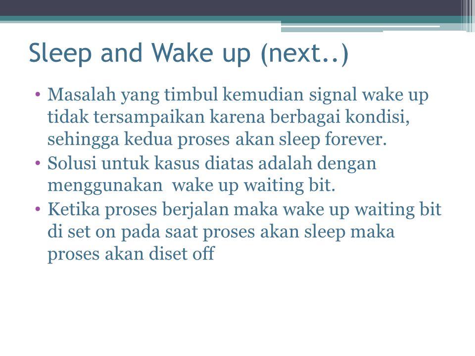 Sleep and Wake up (next..)