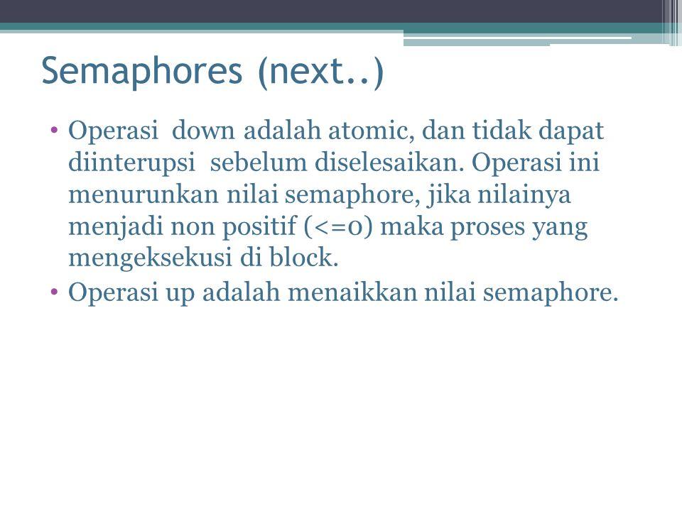 Semaphores (next..)