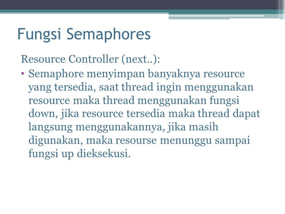 Fungsi Semaphores Resource Controller (next..):