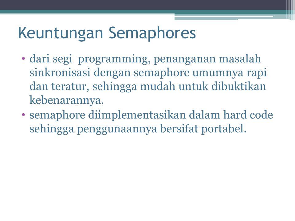 Keuntungan Semaphores
