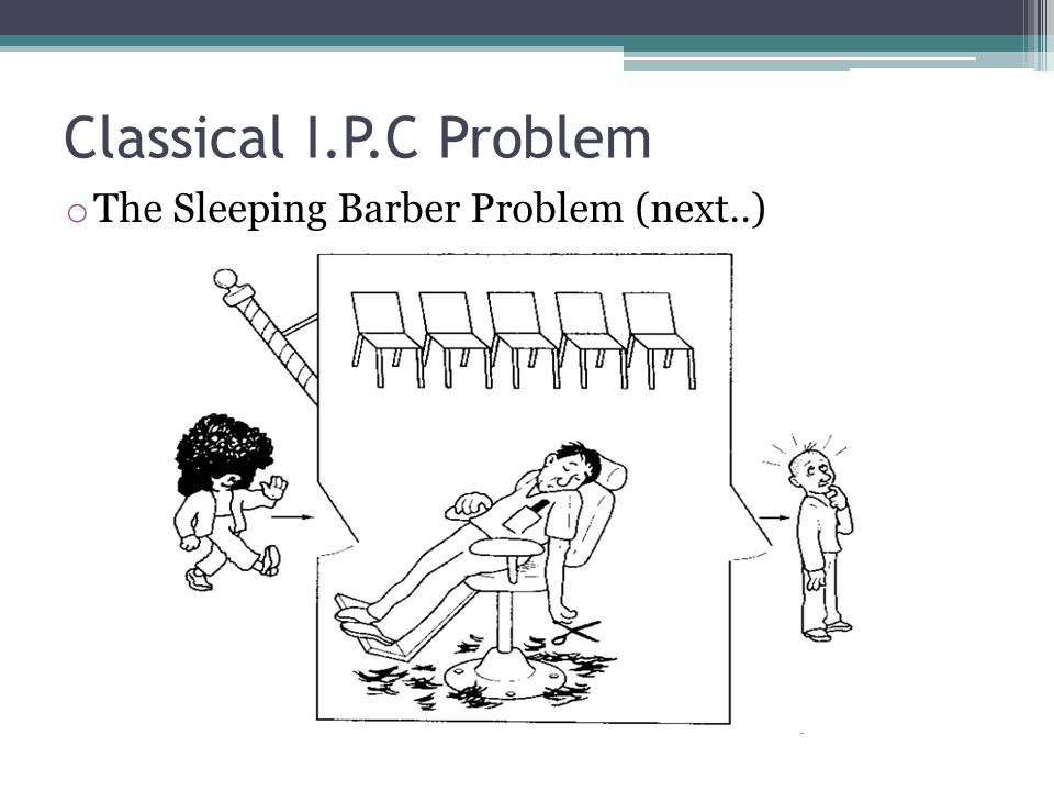 Classical I.P.C Problem The Sleeping Barber Problem (next..)