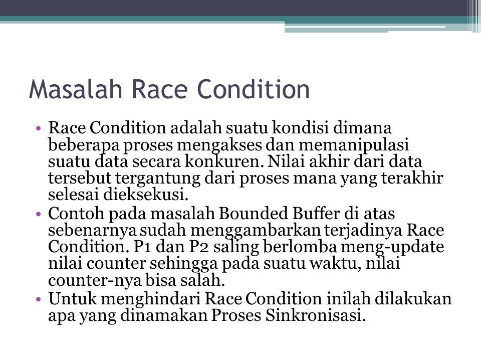 Masalah Race Condition