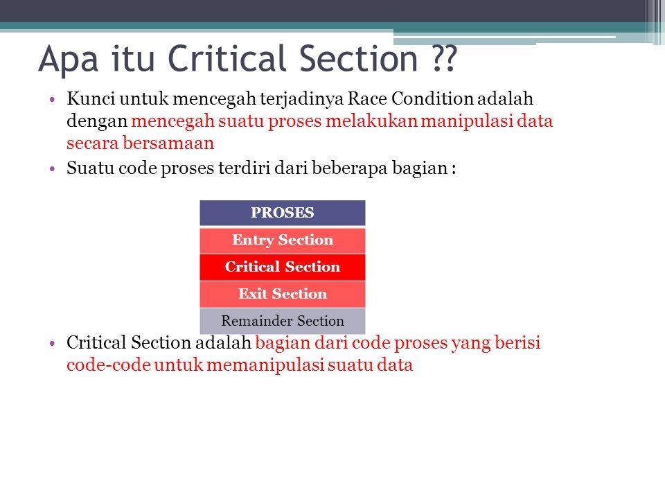 Apa itu Critical Section