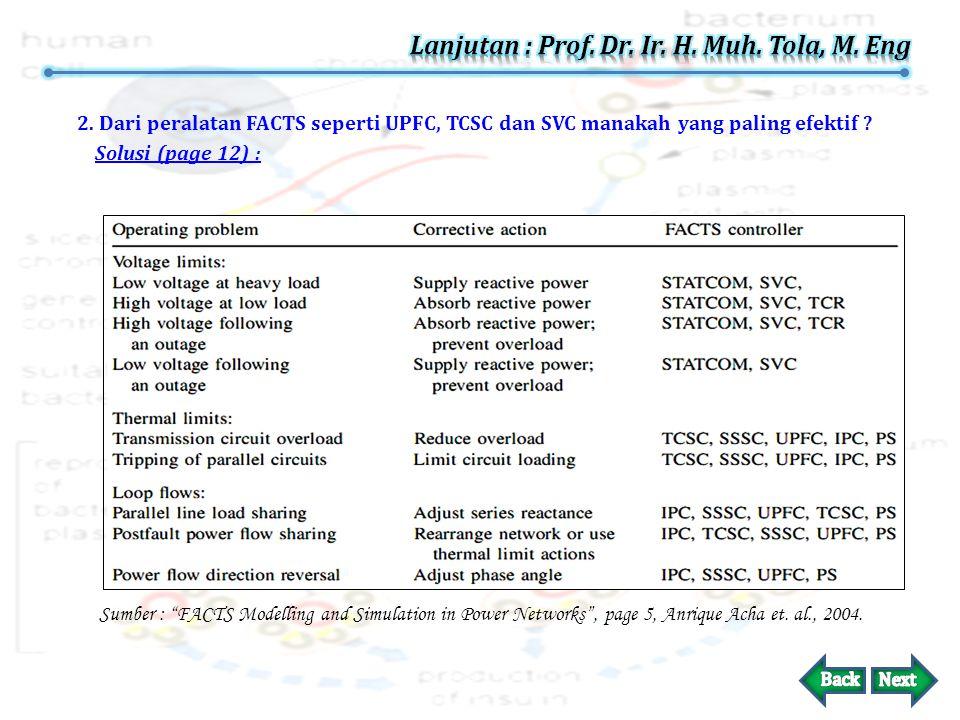 Lanjutan : Prof. Dr. Ir. H. Muh. Tola, M. Eng