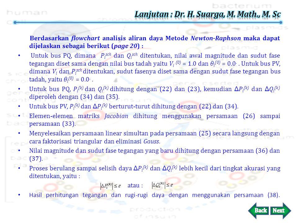 Lanjutan : Dr. H. Suarga, M. Math., M. Sc