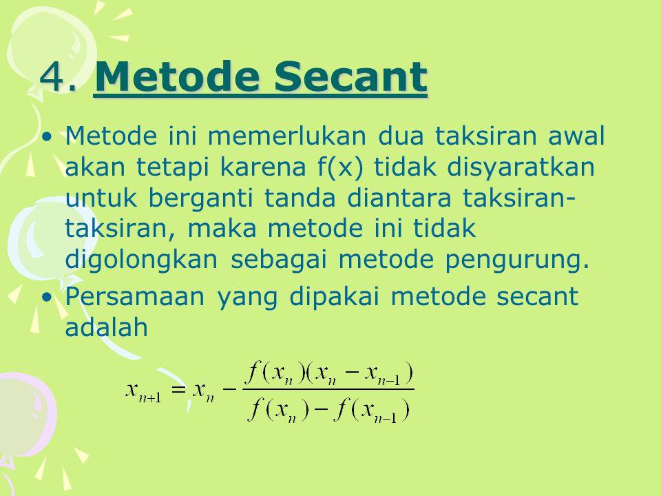 4. Metode Secant