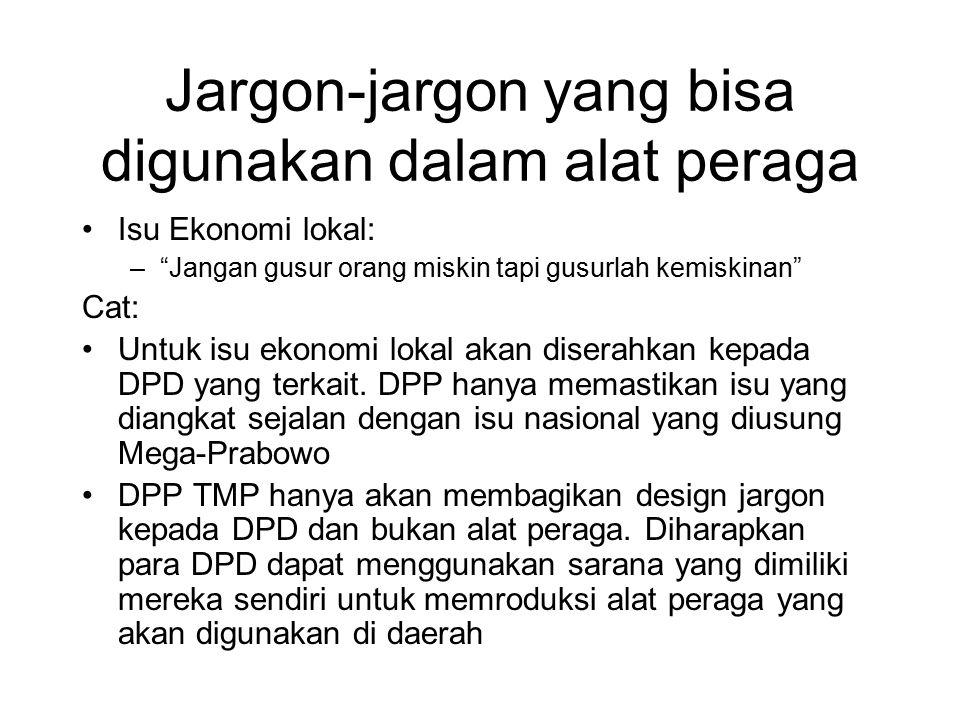 Jargon-jargon yang bisa digunakan dalam alat peraga