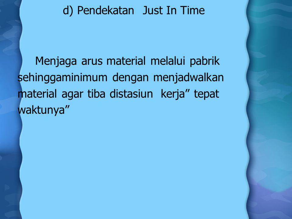 d) Pendekatan Just In Time