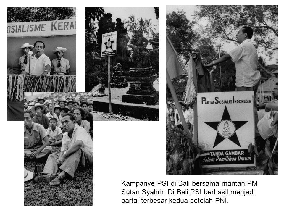 Kampanye PSI di Bali bersama mantan PM Sutan Syahrir