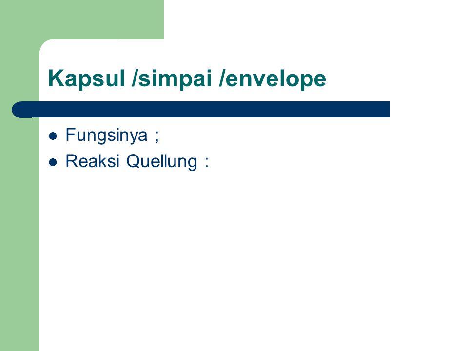 Kapsul /simpai /envelope