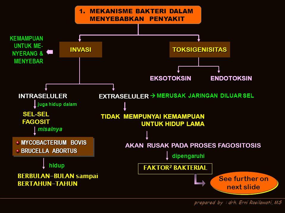 See further on next slide MEKANISME BAKTERI DALAM MENYEBABKAN PENYAKIT