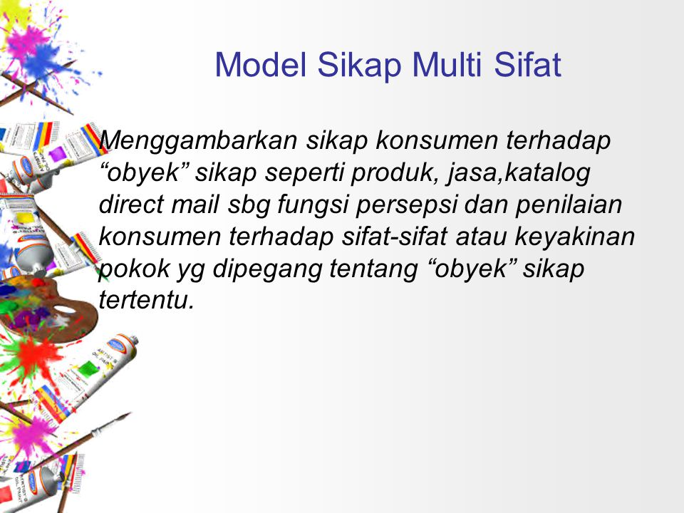 Model Sikap Multi Sifat