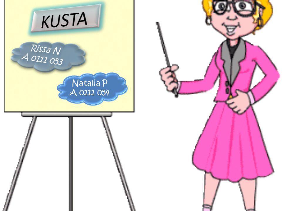 KUSTA Rissa N A 0111 053 Natalia P A 0111 054
