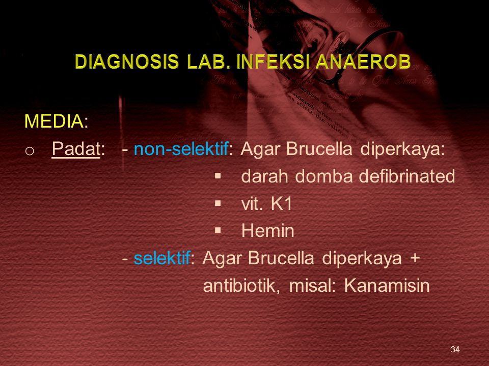 DIAGNOSIS LAB. INFEKSI ANAEROB
