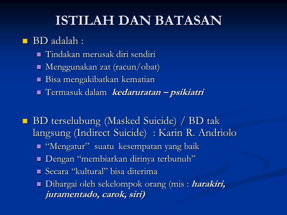 ISTILAH DAN BATASAN BD adalah :