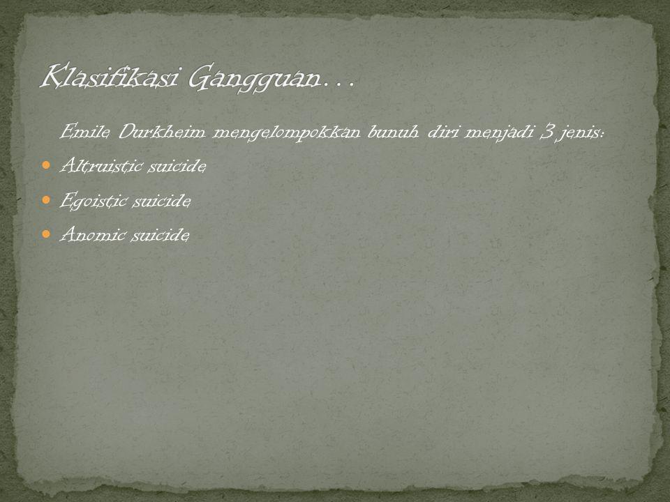 Klasifikasi Gangguan…