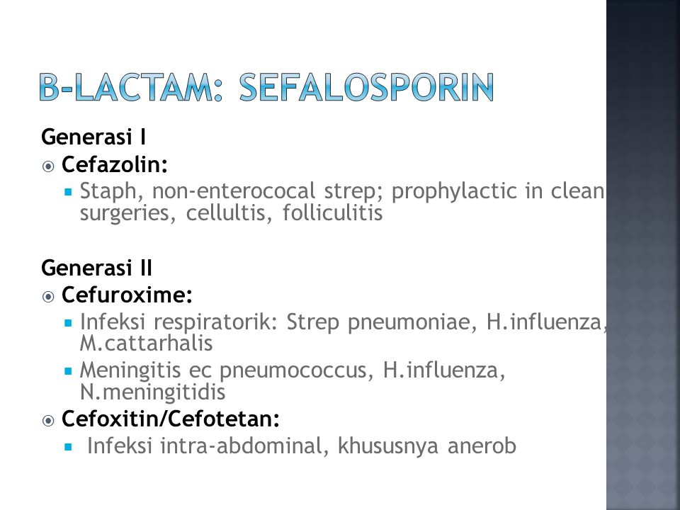 B-Lactam: SeFalosporin