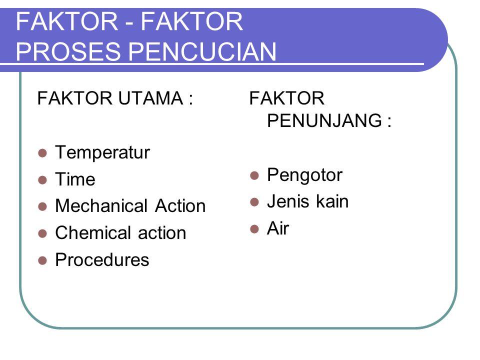 FAKTOR - FAKTOR PROSES PENCUCIAN