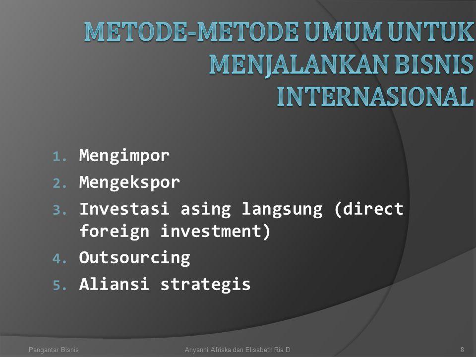 Metode-Metode umum untuk menjalankan bisnis Internasional