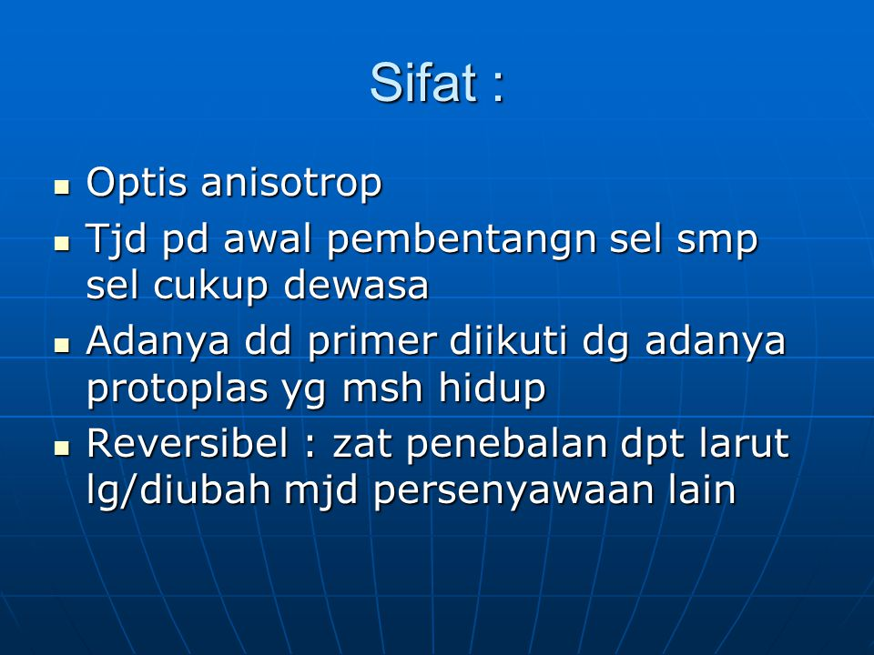 Sifat : Optis anisotrop