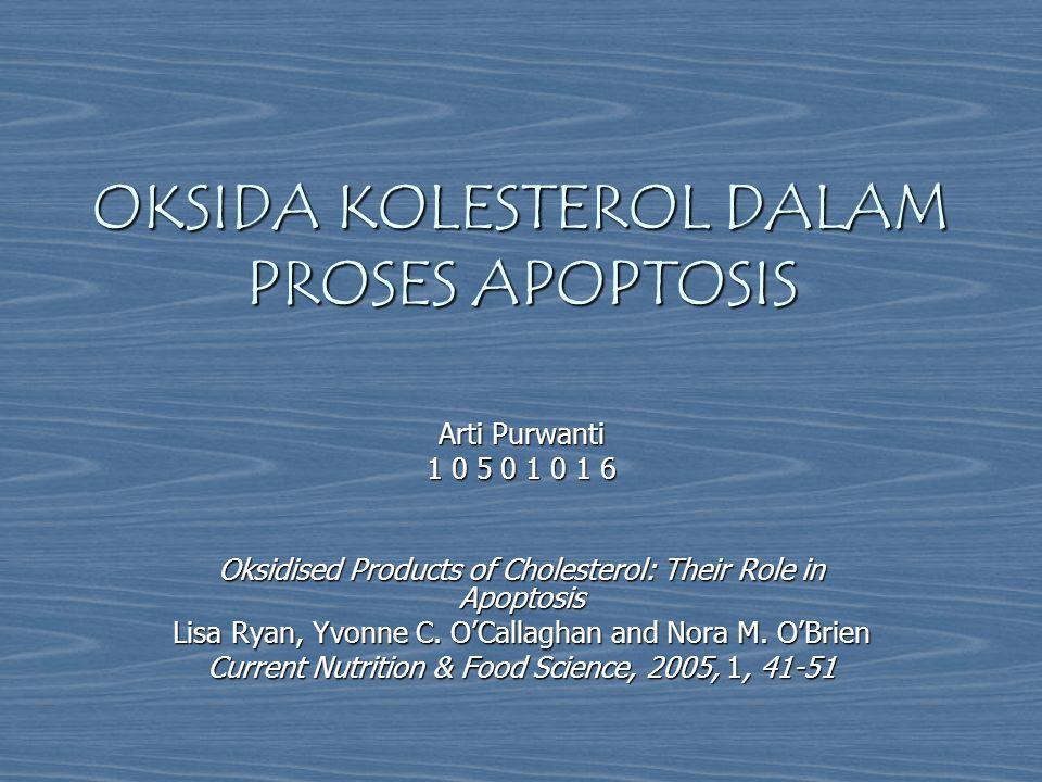 OKSIDA KOLESTEROL DALAM PROSES APOPTOSIS