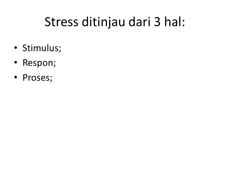Stress ditinjau dari 3 hal: