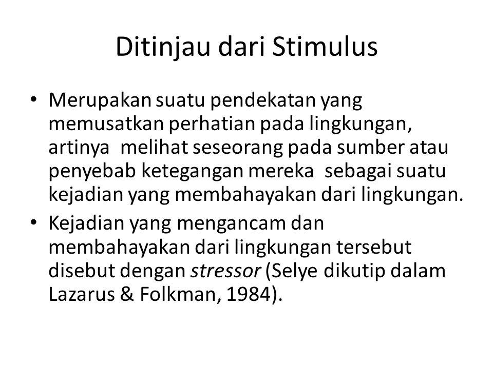 Ditinjau dari Stimulus