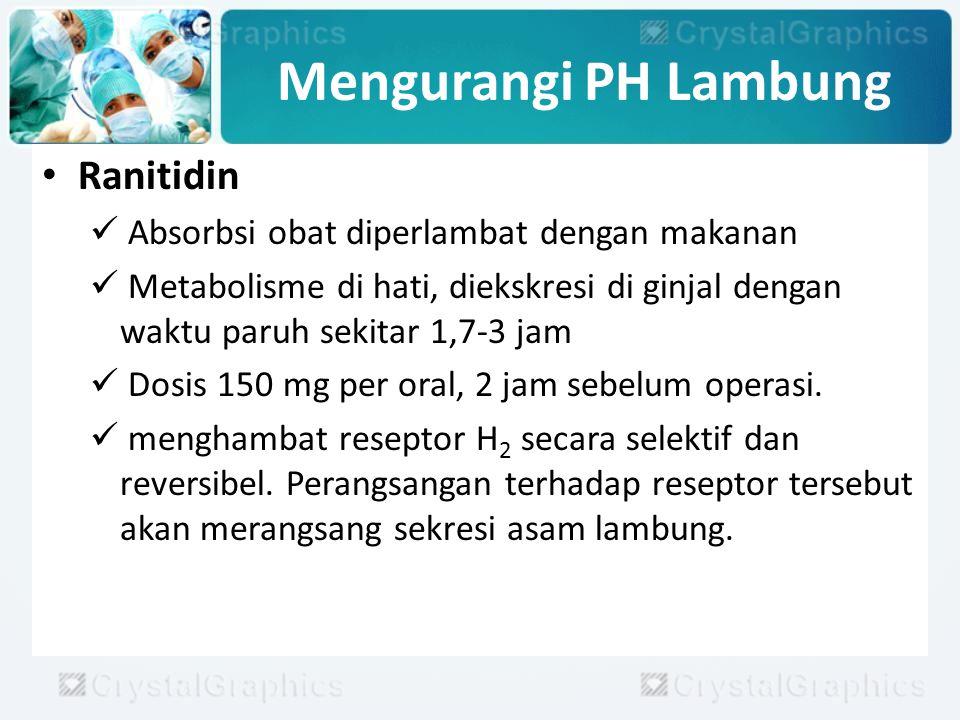 Mengurangi PH Lambung Ranitidin