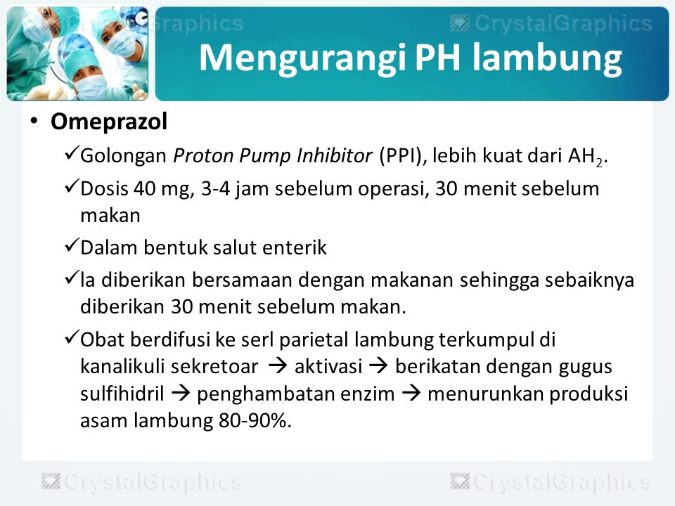 Mengurangi PH lambung Omeprazol