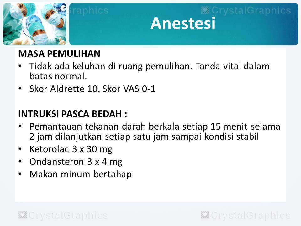 Anestesi MASA PEMULIHAN