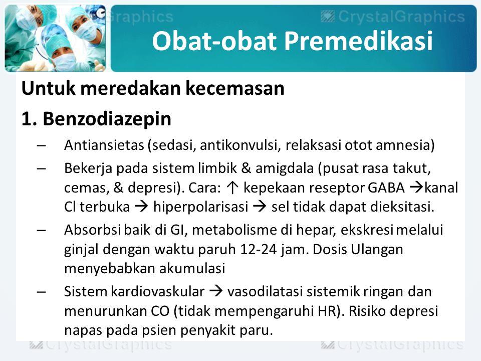 Obat-obat Premedikasi