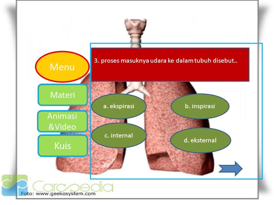 3. proses masuknya udara ke dalam tubuh disebut..