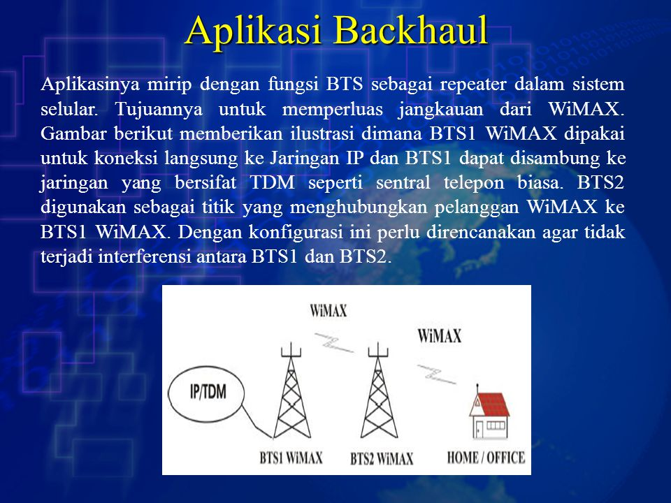 Aplikasi Backhaul