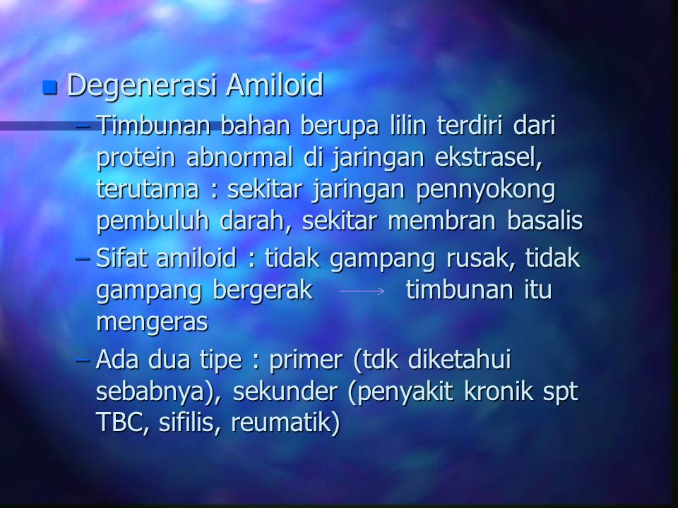 Degenerasi Amiloid