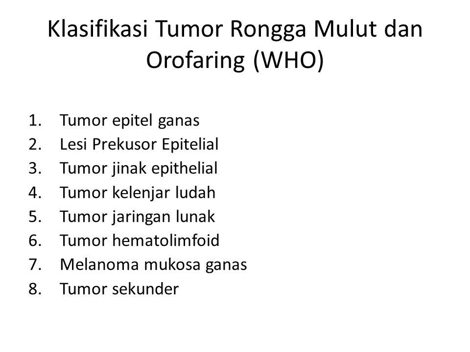 Klasifikasi Tumor Rongga Mulut dan Orofaring (WHO)