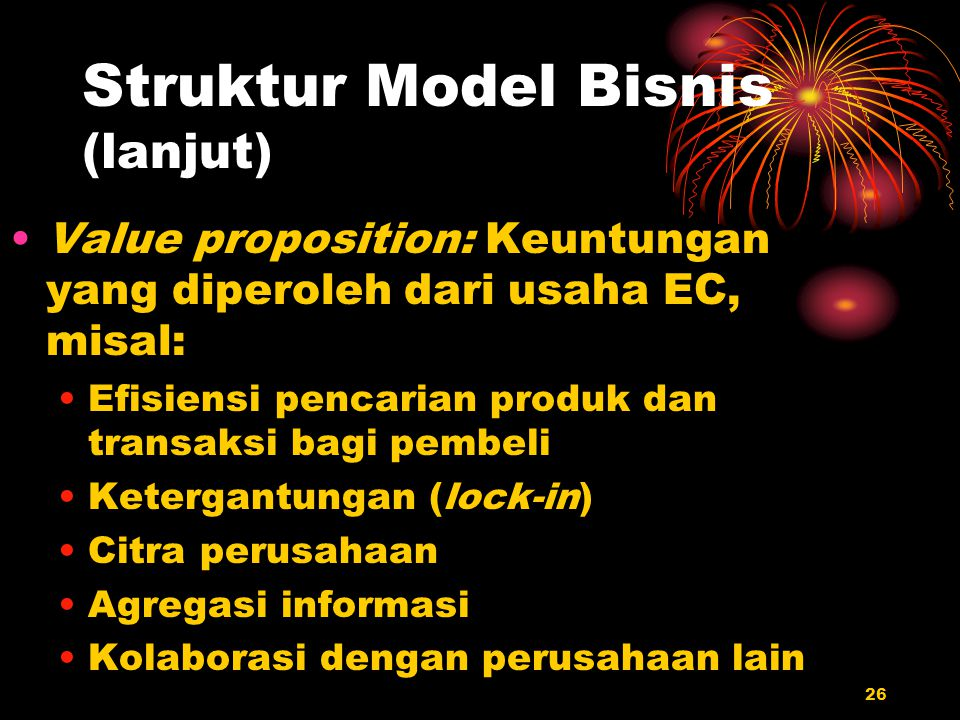Struktur Model Bisnis (lanjut)
