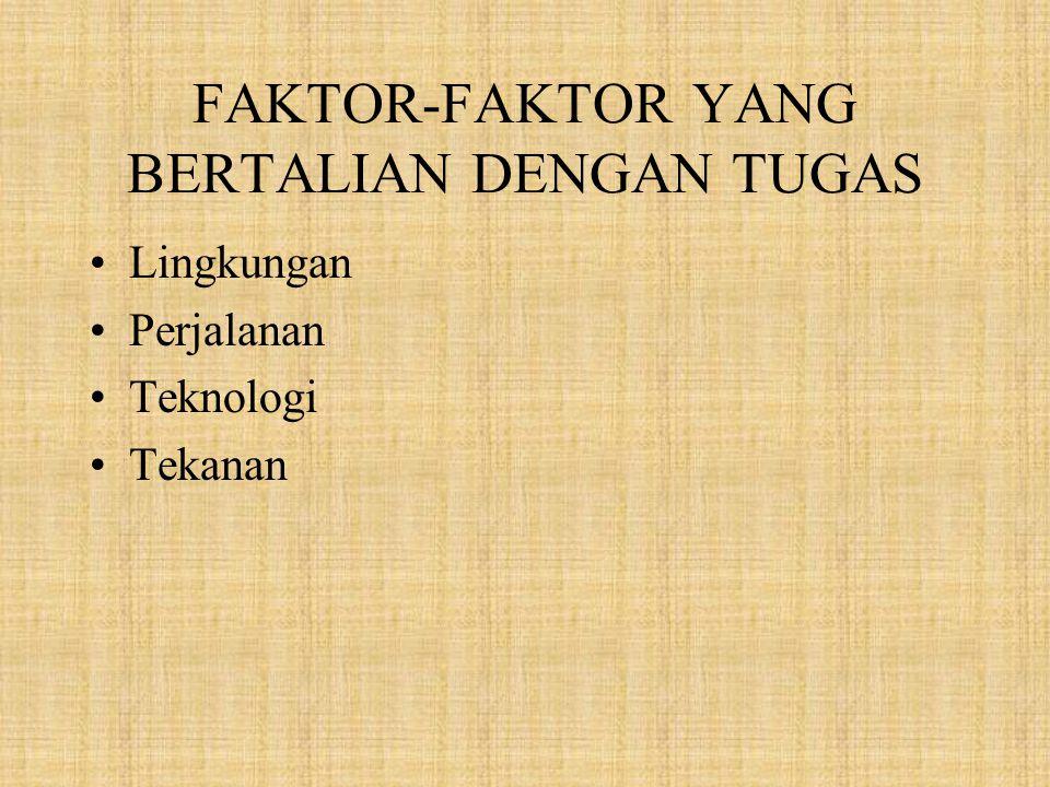 FAKTOR-FAKTOR YANG BERTALIAN DENGAN TUGAS