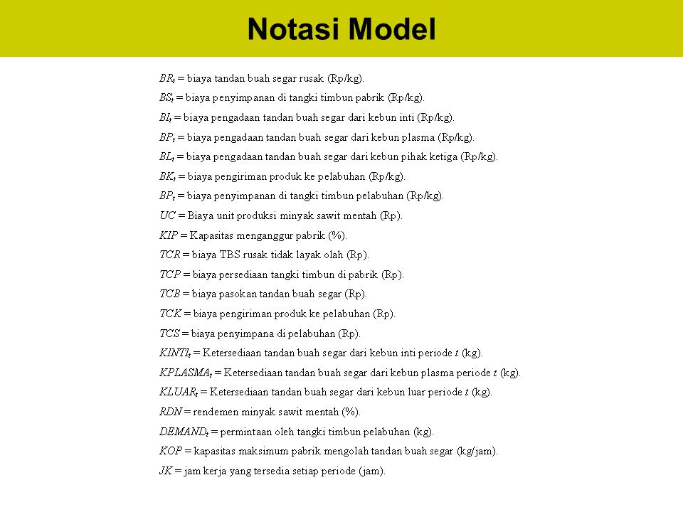 Notasi Model