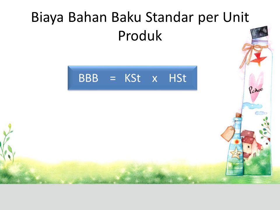 Biaya Bahan Baku Standar per Unit Produk