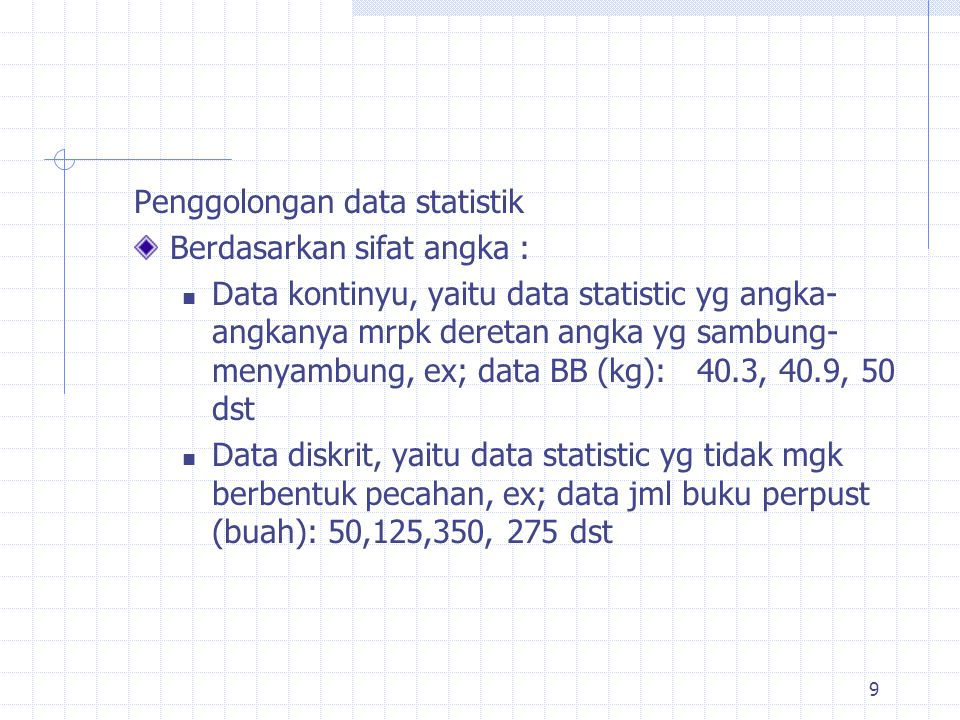Penggolongan data statistik